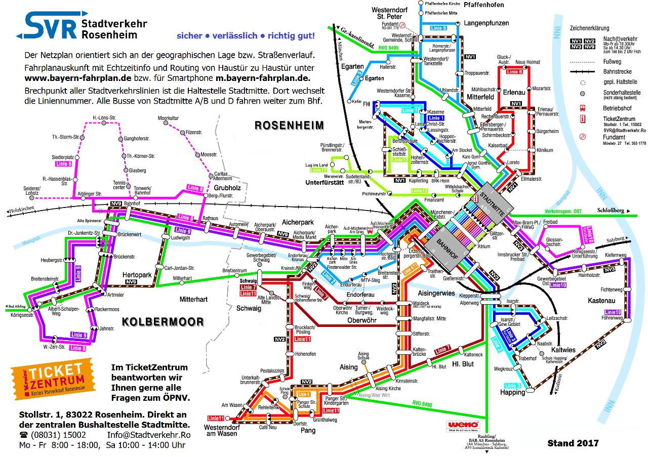 Download Fahr Und Netzplan Stadtverkehr Rosenheim